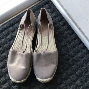 EILEEN FISHER METALLIC SUADE SHOES #7